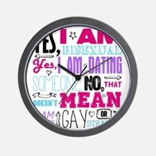 Yes, I Am Bisexual on White Wall Clock