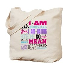 Yes, I Am Bisexual on White Tote Bag