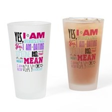 Yes, I Am Bisexual on White Drinking Glass