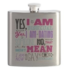 Yes, I Am Bisexual on White Flask
