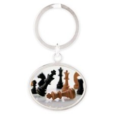 Chess pieces Oval Keychain
