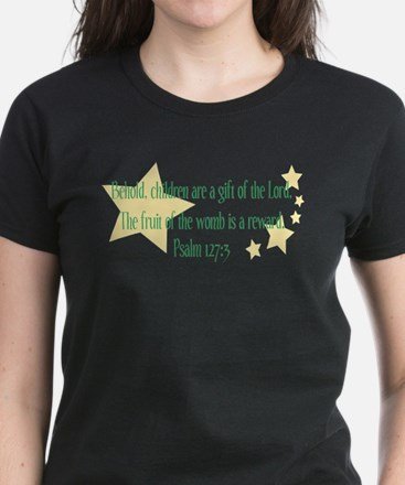 Psalm 127:3 Women's Dark T-Shirt