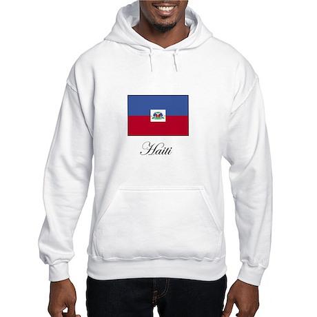 Haiti - Haitian Flag Hooded Sweatshirt
