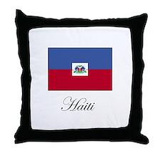 Haiti - Haitian Flag Throw Pillow