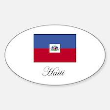 Haiti - Haitian Flag Oval Decal