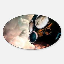 Chemical warfare, conceptual artwor Sticker (Oval)