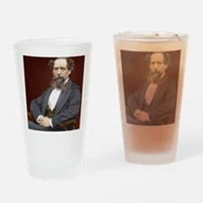Charles Dickens, British author Drinking Glass
