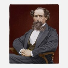 Charles Dickens, British author Throw Blanket