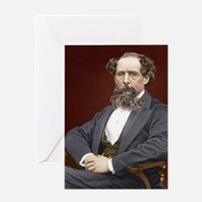 Charles Dickens, British author Greeting Card