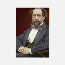 Charles Dickens, British author Rectangle Magnet