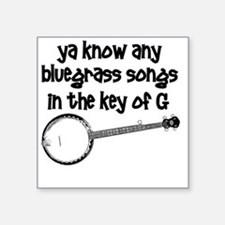 "Funny Banjo Square Sticker 3"" x 3"""