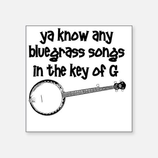 "Funny Banjo Square Sticker 3"" x 3"""