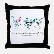 Dance Life Throw Pillow