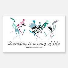 Dance Life Rectangle Decal