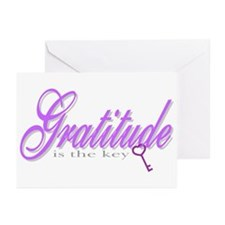 Gratitude is the Key Greeting Cards (Pk of 10)