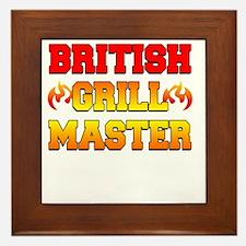British Grill Master Dark Apron Framed Tile
