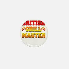 British Grill Master Dark Apron Mini Button