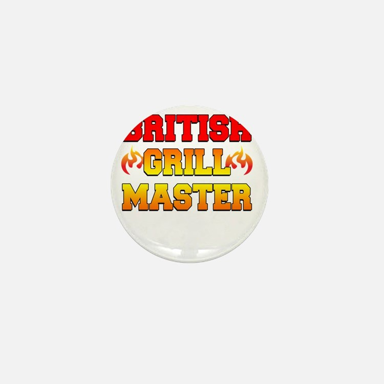 British Grill Master Dark Apron Mini Button