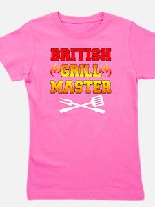British Grill Master Dark Apron Girl's Tee