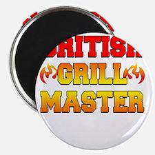 British Grill Master Dark Apron Magnet