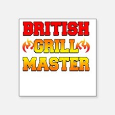 "British Grill Master Dark A Square Sticker 3"" x 3"""