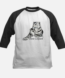 Snow Leopard Kids Baseball Jersey