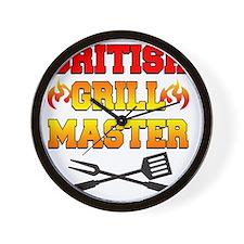 British Grill Master Apron Wall Clock