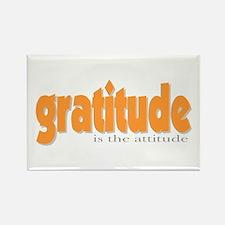 Gratitude is the Attitude Rectangle Magnet