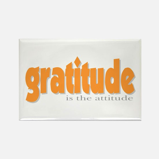 Gratitude is the Attitude Rectangle Magnet