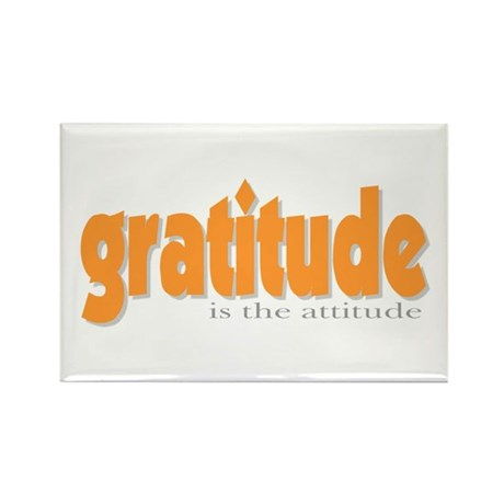 Gratitude is the Attitude Rectangle Magnet (100 pa