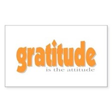 Gratitude is the Attitude Rectangle Decal