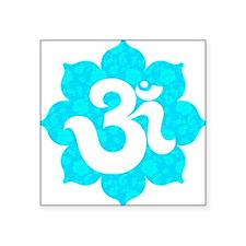 "Om Sanskrit in lotus baby b Square Sticker 3"" x 3"""