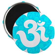 Om Sanskrit in lotus baby blue Magnet