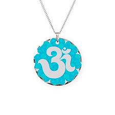Om Sanskrit in lotus baby bl Necklace