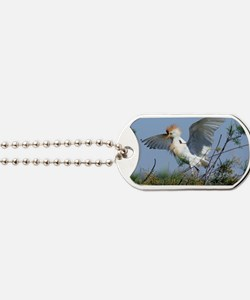 Cattle egret in breeding plumage Dog Tags