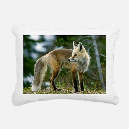 Cascade red fox Rectangular Canvas Pillow
