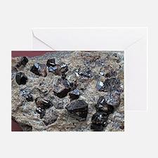 Cassiterite crystals Greeting Card