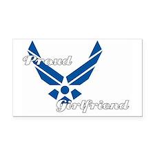 Proud Air Force Girlfriend Rectangle Car Magnet