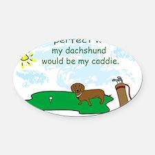 dachshund Oval Car Magnet