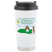 basset hound Travel Coffee Mug