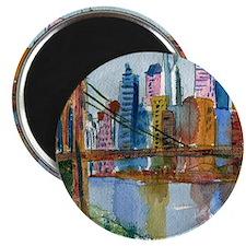 Brooklyn Bridge Bathroom Magnet