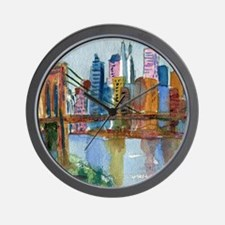 Brooklyn Bridge Bathroom Wall Clock