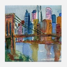Brooklyn Bridge Bathroom Tile Coaster