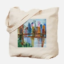 Brooklyn Bridge Bathroom Tote Bag