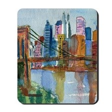 Brooklyn Bridge Bathroom Mousepad