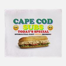 CAPE COD SUBS - ASS CRACK CHEESE DRE Throw Blanket