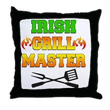 Irish Grill Master Apron Throw Pillow
