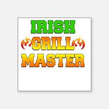 """Irish Grill Master Dark Apr Square Sticker 3"""" x 3"""""""
