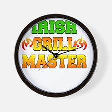 Irish Grill Master Dark Apron Wall Clock