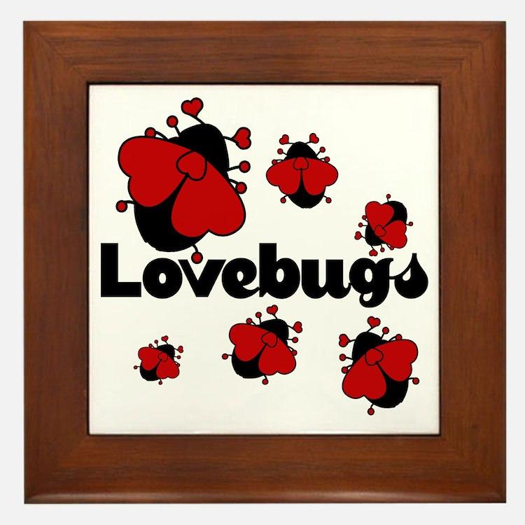 Love bugs Framed Tile